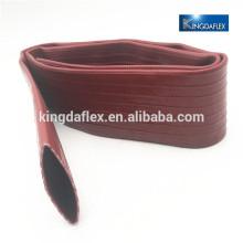 Para la irrigación de la agricultura PVC rojo layflat manguera