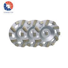 "4"" 100 mm Diamond Aluminium Diamond Cup Wheels for Granite Marble Stone Grinding"