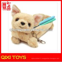 2014 nouveau design peluche chien crayon cas jouet en peluche