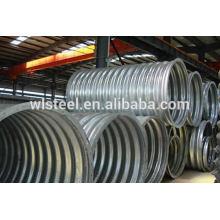 Tubo de acero galvanizado galvanizado de medio cilindro