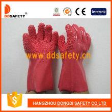 100%хлопчатобумажные перчатки с розовыми Обломока PVC грубо закончил Dpv106