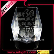 Premio de cristal de láser 3D promocional de negocios 2011