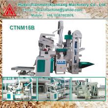 1000kg-1500kg par heure usine riz étuvé machines à fraiser