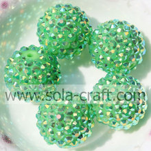 Green AB Resin Rhinestone beads 20*22MM For DIY Fashion Children's Jewelry
