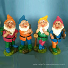 Polyresin Garden Gnome Decoration Bright Colored Dwarf 4/S