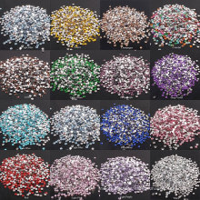 Factory Price Hotfix Crystals Nail Art Glass Rhinestones Pink Stones For Clothes