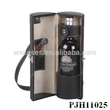 high quality leather wine carrier for single bottle from China manufacturer