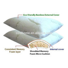 Memory Foam Bed Pillow with Removable Cover Bed Pillow