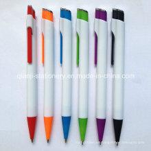 Bolígrafo de plástico blanco (P1021A)
