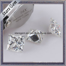 Super White Princess Cut Moissanite Loose Stone for Jewelry Rings