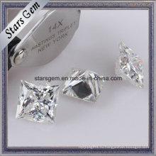 Супер Белый Принцесса огранка Муассанит камни для ювелирных изделий кольца