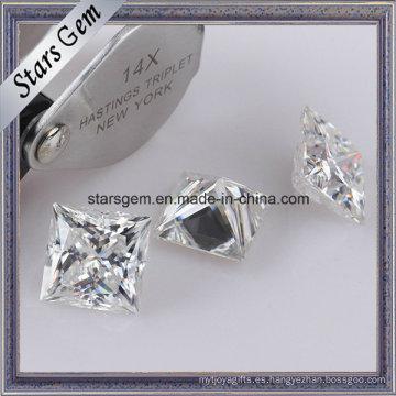 Súper White Princess Cut Moissanite Piedra suelta para anillos de joyería