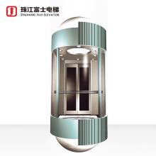 ZhuJiangFuji Brand Fast Full View Sightseeing Lift Usage Home Elevator