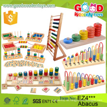 Neue Multifunktionskinder Hölzerne Abakus Rahmen Pädagogische Perlen Spielzeug Frühe Erziehung Kinder Soroban Abakus