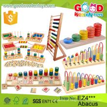 Novos Multifuncionais Crianças Ábaco de madeira quadro Beijinhos educativos Brinquedos Educação inicial Crianças Abóbora Soroban