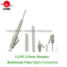 LC PC 2.0mm Simplex Conector Multimodo de Fibra Óptica