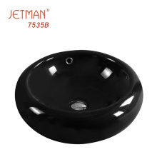 Promotion Product Round Ceramic Black Color basin