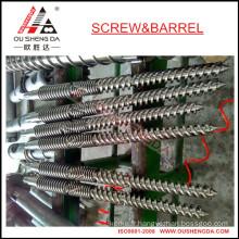 Baril conique à double vis pour extrudeuse de tuyaux UPVC/baril à vis conique