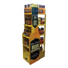 Custom Wooden Beer Wine Display Rack