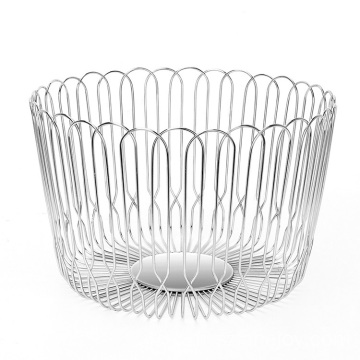 New product kitchen wire bowl basket stainless steel storage vegetable stand basket for vegetables and fruit