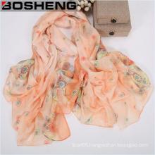 Women Fashion Soft Viscose Flower Print Scarf