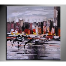 Home Decoration Abstract Oil Painting (XD1-270)