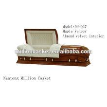 Maple veneer custom casket wholesales china noble