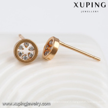 92367-Xuping Daily porter O plaqué or boucle d'oreille best seller vogue jewelries