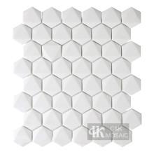 Nouvelle collection de mosaïque en verre recyclé blanc hexagone 3D