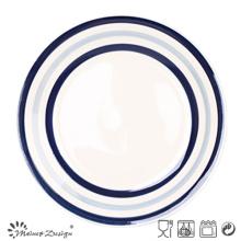 Blue Circle Ceramic Dinner Plate