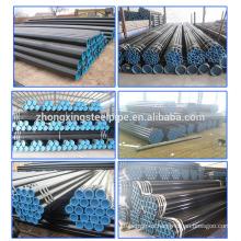ASME b36.10 astm a106 b 133 mm x 4,5 mm tamaño negro acero cartón redonda precio de tubos sin costura