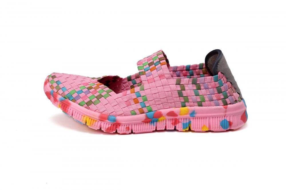 Pink Woven Dance Shoes