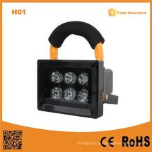 H01 10W 6LED luz de inundação do diodo emissor de luz ao ar livre Rechargeable Searchlight Caving LED Camping Lighting