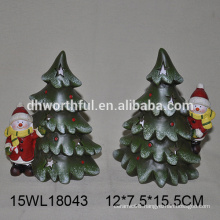 Ceramic snowman and tree for 2016 christmas ornaments
