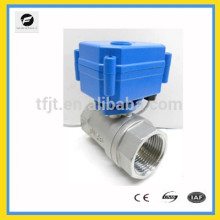 """DC12V 2-way Stainless Steel 304 G1"""" motor electric ball valve NSF61 with position indicator"""