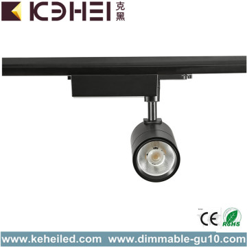 Black LED Track Lights 30 Watt Pure White