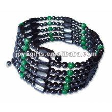 """Plástico magnético verde frisado embrulho pulseiras e colar 36 """""""