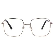2020 New Model Italy Design Quality Square Ladies Oversized Fashion Metallic Glasses