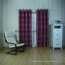 Nova chegada 100% poliéster bordado janela cortina tecido
