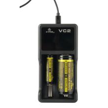USB-зарядное устройство X-Port Vc2 с 2 отсеками для 10440, 18650, 18350, 18490, 26650 литий-ионных аккумуляторов