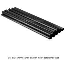 19x17x500mm Real 3K Twill Matte Factory Price Carbon Fiber Booms or Pipes for Multicopters