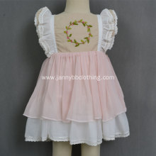 Wholesale pink WDW remake girls baby dresses