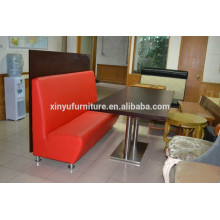 Commerical metal restaurant table and booth sofa set XDW3000