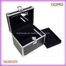 Boîte de petit organisateur de maquillage en gros pas cher avec miroir (SACMC079)