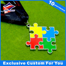 Medal with Color Enamel for Puzzle Games Competition Champion Awards