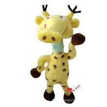 Yellow Plush Cartoon Giraffe Toy