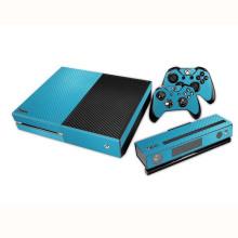 Tampa de proteção de etiqueta de fibra de carbono com 2 adesivos de capas de controlador para Xbox One Console