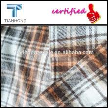 fios tingidos tecidos de flanela com construção/amarelo xadrez flanela quente/tela yarn-dyed do xadrez tecidos