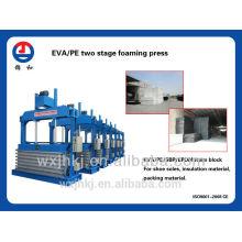 EVA/PE 2 prensa hidráulica que hace espuma
