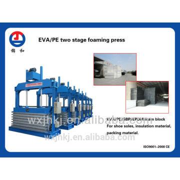 Prensa de vulcanización que hace espuma de la etapa de EVA/PE dos